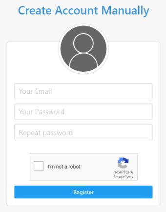 Create an InLinkz account manually