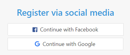 Register to InLinkz via social media