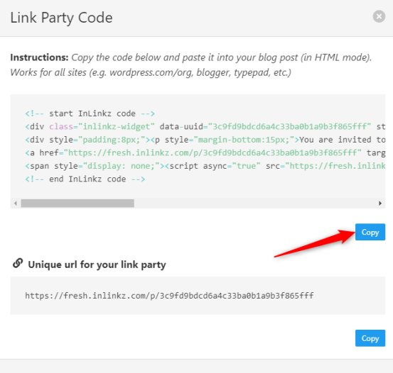 Link Party Code